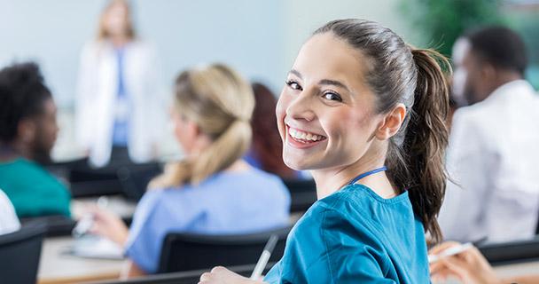 Nurse in a classroom setting